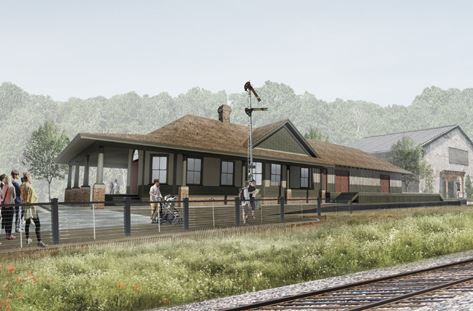 rendering of restored C of GA depot