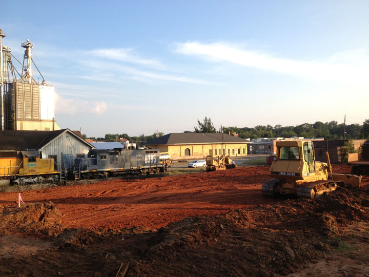 Central of Georgia Depot - Picture of New Depot Site